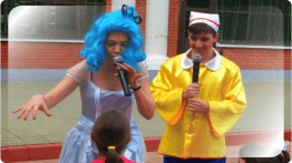 Буратино и Мальвина - детские аниматоры