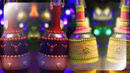 Декоративные новогодние бутылки