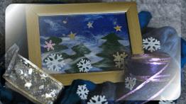 Шерстяные картины в рамке