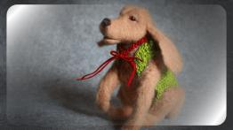 Валяная собачка - символ 2018