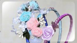 Обручи с цветами на голову