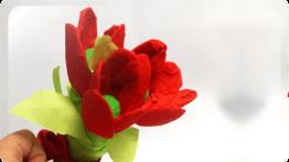 Красные тюльпаны из бумаги